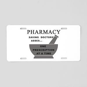 pharmacy saving doctors Aluminum License Plate
