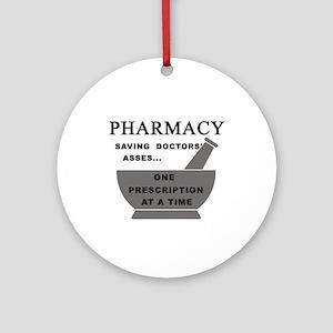 pharmacy saving doctors Round Ornament