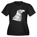 Wedge Tailed Eagle Fine Women's Plus Size V-Neck D