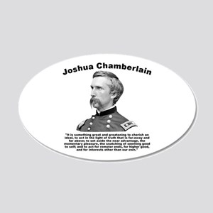 Chamberlain: Greatness 20x12 Oval Wall Decal