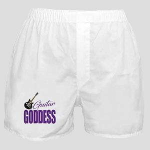 Guitar Goddess Cute Boxer Shorts