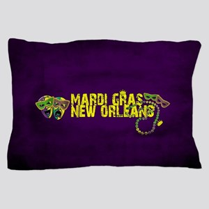 Mardi Gras New Orleans Mask Beads Crow Pillow Case