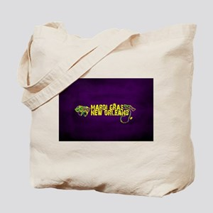 Mardi Gras New Orleans Mask Beads Crown Tote Bag