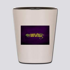 Mardi Gras New Orleans Mask Beads Crown Shot Glass
