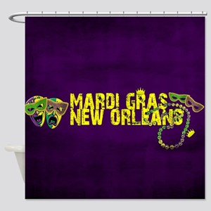 Mardi Gras New Orleans Mask Beads C Shower Curtain
