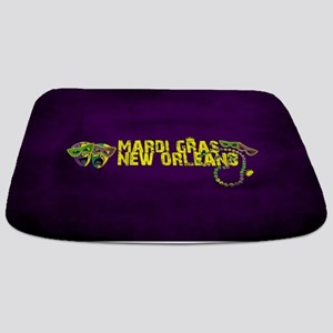 Mardi Gras New Orleans Mask Beads Crown Bathmat