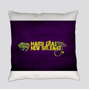Mardi Gras New Orleans Mask Beads Everyday Pillow