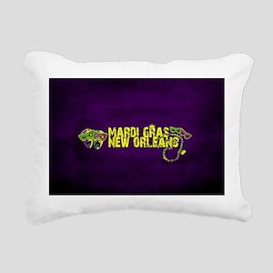 Mardi Gras New Orleans M Rectangular Canvas Pillow