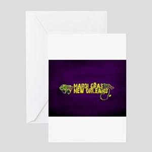 Mardi Gras New Orleans Mask Beads C Greeting Cards