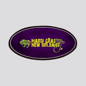 Mardi Gras New Orleans Mask Beads Crown Patch