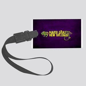 Mardi Gras New Orleans Mask Bead Large Luggage Tag