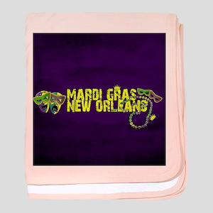 Mardi Gras New Orleans Mask Beads Cro baby blanket
