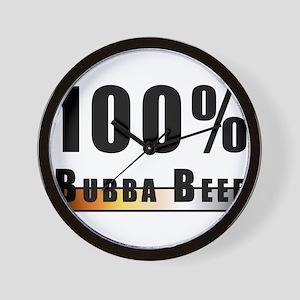 100% BUBBA BEEF BEAR PRIDE Wall Clock
