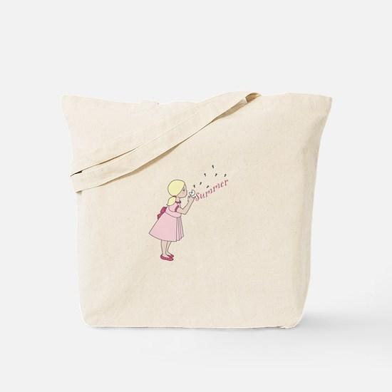 Summer Dandelion Tote Bag