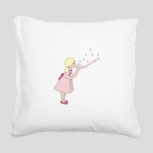 Summer Dandelion Square Canvas Pillow