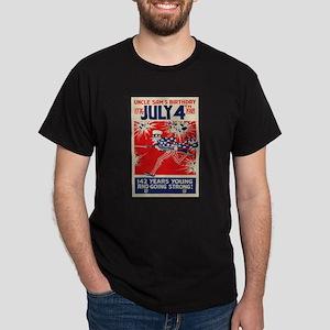 July 4th Uncle Sam's Birthday WWI Pro Dark T-Shirt
