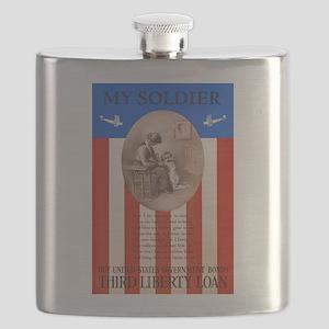 War Bonds WWI My Soldier Liberty Loan Propag Flask