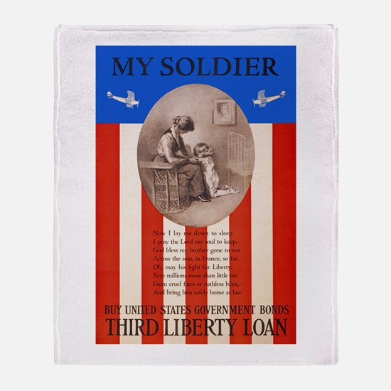 War Bonds WWI My Soldier Liberty Loa Throw Blanket