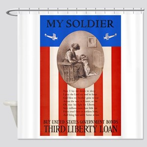 War Bonds WWI My Soldier Liberty Lo Shower Curtain