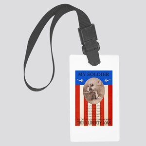 War Bonds WWI My Soldier Liberty Large Luggage Tag