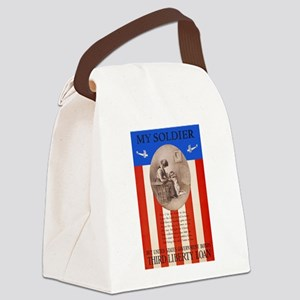 War Bonds WWI My Soldier Liberty Canvas Lunch Bag