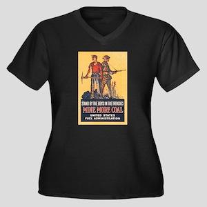 Fuel Adminis Women's Plus Size V-Neck Dark T-Shirt
