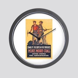 Fuel Administration WWI Coal Mining Pro Wall Clock