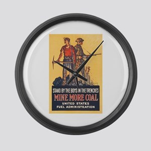 Fuel Administration WWI Coal Mini Large Wall Clock