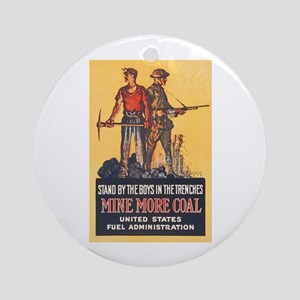 Fuel Administration WWI Coal Mining Round Ornament