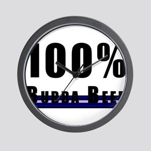 100% BUBBA BEEF LEATHER PRIDE Wall Clock