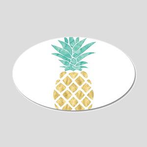 Golden Pineapple Wall Decal