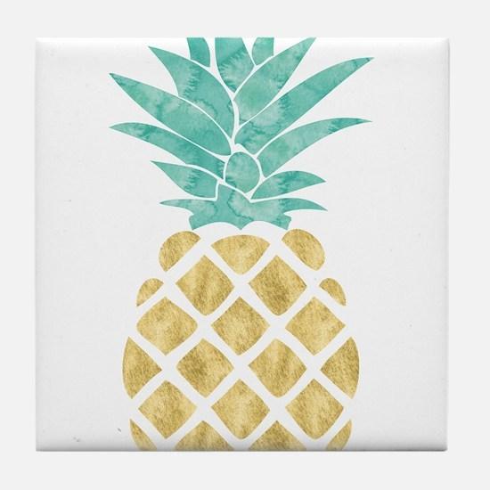 Golden Pineapple Tile Coaster