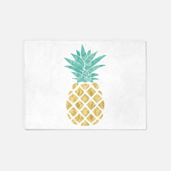 Golden Pineapple 5'x7'Area Rug