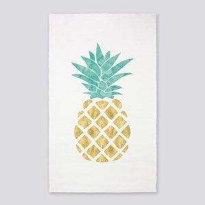 Golden Pineapple Area Rug