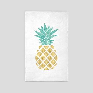 Golden Pineapple Area Rug