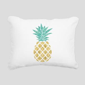 Golden Pineapple Rectangular Canvas Pillow