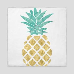 Golden Pineapple Queen Duvet