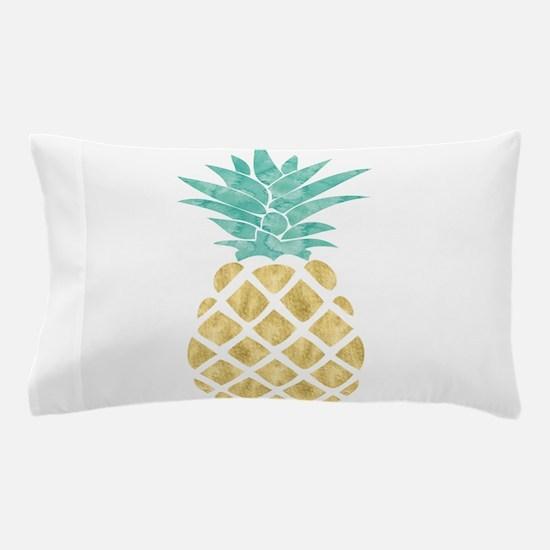 Golden Pineapple Pillow Case