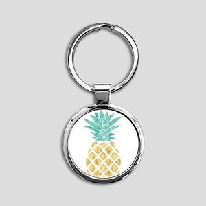 Golden Pineapple Keychains