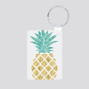 Golden Pineapple Keychains