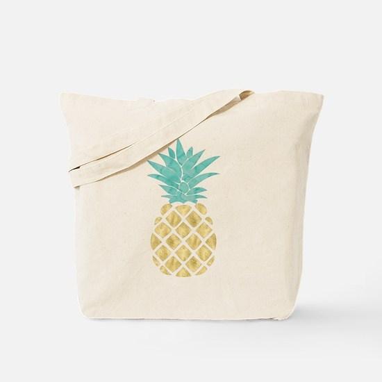 Golden Pineapple Tote Bag