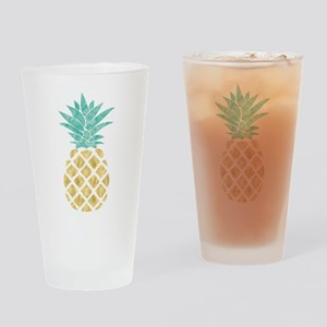 Golden Pineapple Drinking Glass