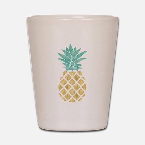 Golden Pineapple Shot Glass