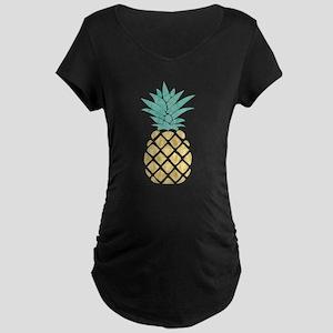 Golden Pineapple Maternity T-Shirt