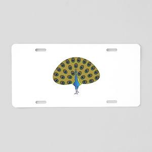 Peacock Aluminum License Plate