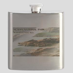 Acadia National Park Coastline Flask