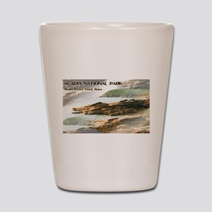 Acadia National Park Coastline Shot Glass