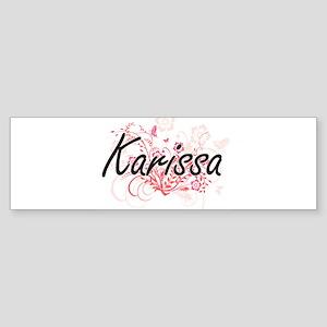 Karissa Artistic Name Design with F Bumper Sticker