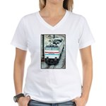 Amtrak E-60 # 610 Women's V-Neck T-Shirt