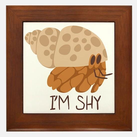 Im Shy Crab Framed Tile